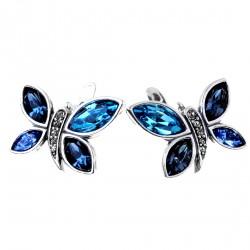 Dominika blue oorbellen