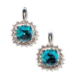 Bennet blue oorbellen